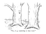 """Yes, it is comforting to have roots."" - New Yorker Cartoon Premium Giclee Print by Al Ross"