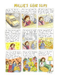 MILLIE'S GEAR SLIPS - New Yorker Cartoon Premium Giclee Print by Roz Chast