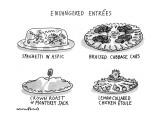 Endangered Entrees - New Yorker Cartoon Premium Giclee Print by Michael Crawford