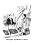 """Something that dazzles but doesn't say 'Forever.' "" - New Yorker Cartoon Premium Giclee Print by Bernard Schoenbaum"
