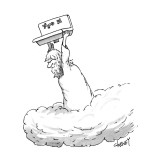 Zeus throwing the kitchen sink. - New Yorker Cartoon Premium Giclee Print by Tom Cheney