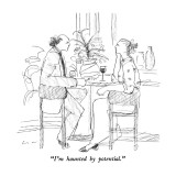 """I'm haunted by potential."" - New Yorker Cartoon Premium Giclee Print by Richard Cline"