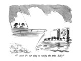 """I think it's our duty to notify the feds, Kelly."" - New Yorker Cartoon Premium Giclee Print by James Stevenson"