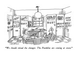 """We should reload the changer.  The Franklins are coming at seven."" - New Yorker Cartoon Premium Giclee Print by Michael Crawford"
