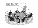 King Arthur And The Attorneys Of The Round Table - New Yorker Cartoon Premium Giclee Print by Mick Stevens