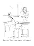 """Here's the 'Times' as you requested it.  Unthumbed."" - New Yorker Cartoon Premium Giclee Print by Richard Cline"