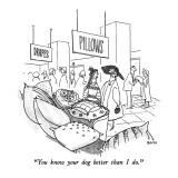 """""""You know your dog better than I do."""" - New Yorker Cartoon Premium Giclee Print by George Booth"""