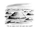 """Do you suppose there's life under other rocks?"" - New Yorker Cartoon Premium Giclee Print by Warren Miller"