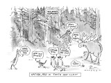 Nature, Red In Tooth And Claw - New Yorker Cartoon Premium Giclee Print by Bill Woodman