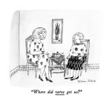 """Where did verve get us?"" - New Yorker Cartoon Premium Giclee Print by Victoria Roberts"