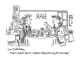 """""""I don't cook for Dave—I defrost things from my first marriage."""" - New Yorker Cartoon Premium Giclee Print by Eric Teitelbaum"""
