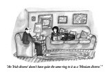 """An 'Irish divorce' doesn't have quite the same ring to it as a 'Mexican d…"" - New Yorker Cartoon Premium Giclee Print by Victoria Roberts"