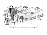 """Harvey, talk to me.  How are the Knicks making out?"" - New Yorker Cartoon Premium Giclee Print by William Steig"