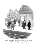 """""""Doris and I both know where the bodies are buried.  That's what keeps us …"""" - New Yorker Cartoon Premium Giclee Print by J.B. Handelsman"""