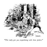 """This really gets you empathizing with those pickers."" - New Yorker Cartoon Premium Giclee Print by William Hamilton"