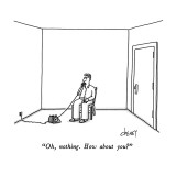 &quot;Oh, nothing.  How about you?&quot; - New Yorker Cartoon Premium Giclee Print by Tom Cheney