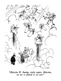 """""""Malcolm W. Dunlap, violin repairs.  Malcolm, we are so pleased to see you…"""" - New Yorker Cartoon Premium Giclee Print by George Booth"""