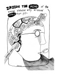 Inside the Mind of the Average Intellectual Artsy All-Around 1990s-Type Gu… - New Yorker Cartoon Premium Giclee Print by Stephanie Skalisky