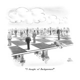 """I thought so!  Backgammon!"" - New Yorker Cartoon Premium Giclee Print by Ed Fisher"