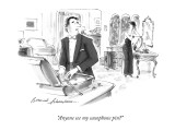 """Anyone see my saxophone pin?"" - New Yorker Cartoon Premium Giclee Print by Bernard Schoenbaum"