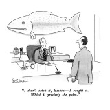 """""""I didn't catch it, Haskins—I bought it.  Which is precisely the point."""" - New Yorker Cartoon Premium Giclee Print by Leo Cullum"""