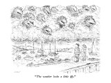 """The weather looks a little iffy."" - New Yorker Cartoon Premium Giclee Print by Edward Koren"