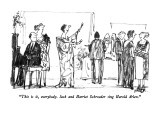 """This is it, everybody.  Jack and Harriet Schroeder sing Harold Arlen."" - New Yorker Cartoon Premium Giclee Print by Robert Weber"