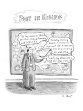 Weatherman giving weather report recites poetry. - New Yorker Cartoon Premium Giclee Print by Roz Chast