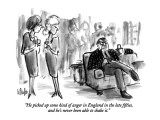 """He picked up some kind of anger in England in the late fifties, and he's …"" - New Yorker Cartoon Premium Giclee Print by Warren Miller"