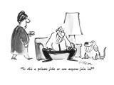 """Is this a private joke or can anyone join in?"" - New Yorker Cartoon Premium Giclee Print by Lee Lorenz"