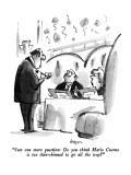 """""""Just one more question:  Do you think Mario Cuomo is too thin-skinned to …"""" - New Yorker Cartoon Premium Giclee Print by Lee Lorenz"""
