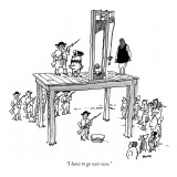 """I have to go wee-wee."" - New Yorker Cartoon Premium Giclee Print by George Booth"