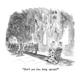 &quot;Don&#39;t you love being upscale?&quot; - New Yorker Cartoon Premium Giclee Print by James Stevenson