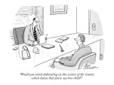 """Would you mind elaborating on this section of the resume, which claims th…"" - New Yorker Cartoon Premium Giclee Print by Leo Cullum"