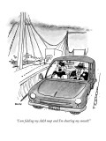 """I am folding my AAA map and I'm shutting my mouth!"" - New Yorker Cartoon Premium Giclee Print by George Booth"