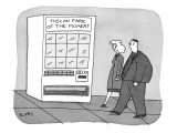 Man and woman pass vending machine with a sign: Tuscan Fare Of The Moment. - New Yorker Cartoon Premium Giclee Print by Peter C. Vey