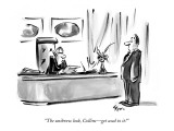 """The unibrow look, Collins—get used to it!"" - New Yorker Cartoon Premium Giclee Print by Lee Lorenz"