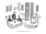 """""""Out with the old fish, in with the new."""" - New Yorker Cartoon Premium Giclee Print by Frank Cotham"""