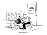 """""""An olive or a twist?"""" - New Yorker Cartoon Premium Giclee Print by Nick Downes"""