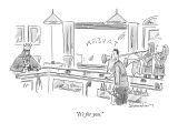 """It's for you."" - New Yorker Cartoon Premium Giclee Print by Danny Shanahan"