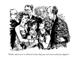 """Dickie and I were so relieved to hear that you were born with your hyphen…"" - New Yorker Cartoon Premium Giclee Print by William Hamilton"