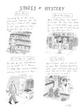 Various stores and the merchandise they sell. - New Yorker Cartoon Premium Giclee Print by Roz Chast
