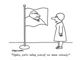 """Ogden, you're taking yourself too damn seriously."" - New Yorker Cartoon Premium Giclee Print by Charles Barsotti"