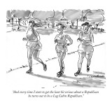 """And every time I start to get the least bit serious about a Republican he…"" - New Yorker Cartoon Premium Giclee Print by Michael Crawford"