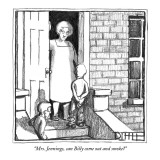 """""""Mrs. Jennings, can Billy come out and smoke?"""" - New Yorker Cartoon Premium Giclee Print by Matthew Diffee"""