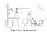 """Donald Trump on lines one through six."" - New Yorker Cartoon Premium Giclee Print by Ed Arno"
