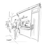 """Smoke shop advertising """"The Poindexter"""" pipe. - New Yorker Cartoon Premium Giclee Print by Frank Modell"""