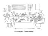 """It's breakfast.  Assume nothing."" - New Yorker Cartoon Premium Giclee Print by Dean Vietor"