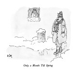 Only a Month Till Spring - New Yorker Cartoon Premium Giclee Print by William Steig