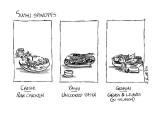 Sushi Spinoffs - New Yorker Cartoon Premium Giclee Print by Sidney Harris